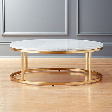 marble and brass art deco Coffee Table from CB2