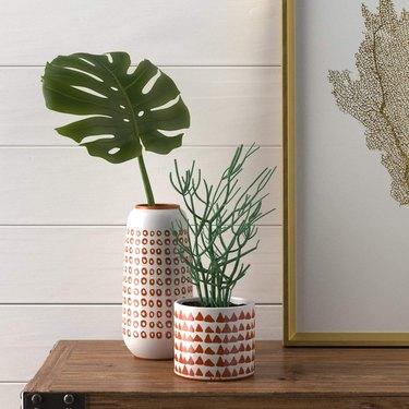stone and beam ceramic planter