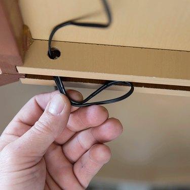 Under-cabinet lighting wires.