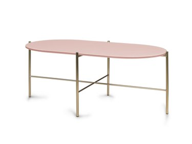 Pink art deco coffee table from Article
