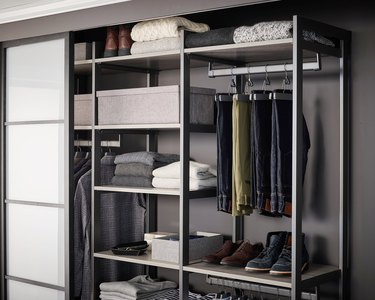 Reach in closet from Martha Stewart's new California Closets collection