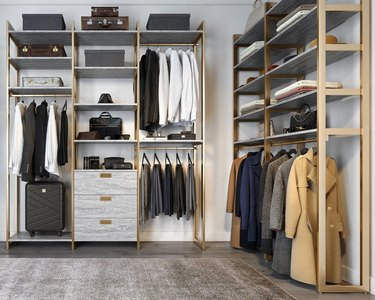 Walk-in closet from Martha Stewart's new collection from California Closets