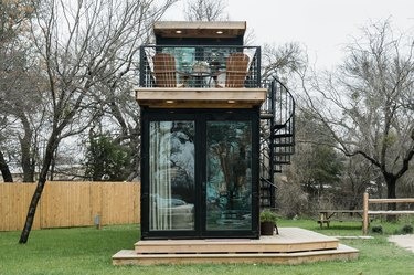 modern shipping container tiny house