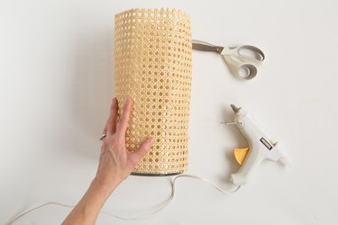 How to make a cane wrapped vase