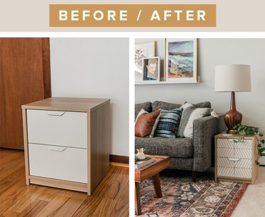 Before and after: IKEA nightstand upgrade using a paint marker