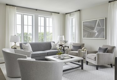 Silver Satin Paint Color by Benjamin Moore