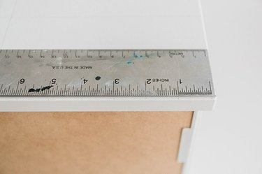 Use a ruler to draw marks every 1 inch.