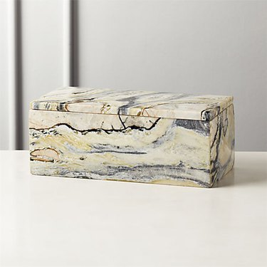 cream and marble box Hollywood Regency accessory from CB2