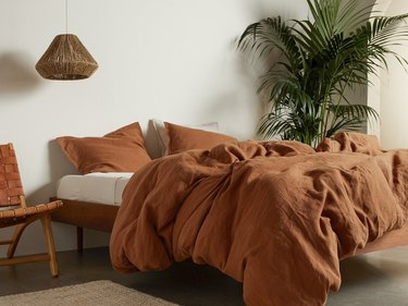 Parachute terracotta bedding