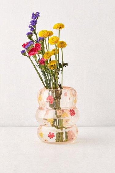 resin flower vase