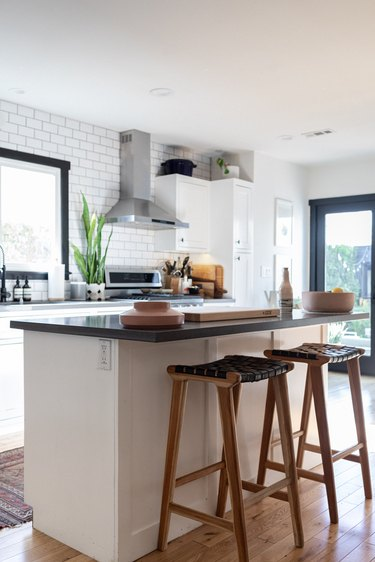 kitchen stools and breakfast bar