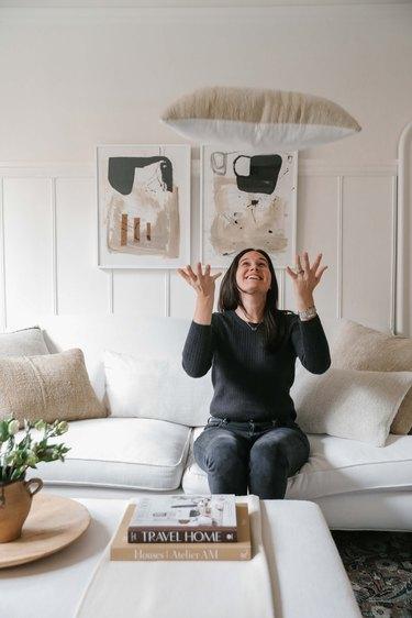 Designer Caitlin Flemming at home
