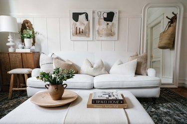 Caitlin Flemming's white living room