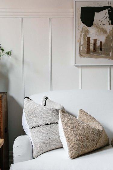 Textured pillows