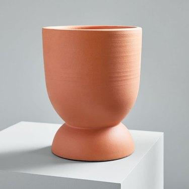 Round decorative terracotta planter