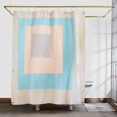 art shower curtain with pastel print