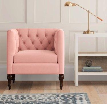 tilton square tufted arm chair