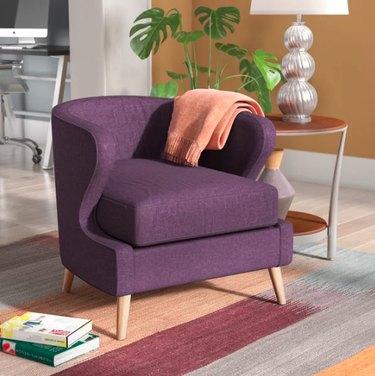 wayfair indurial barrel chair