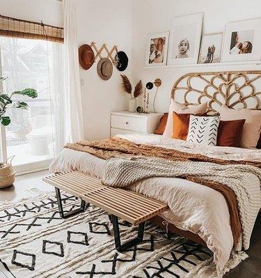 boho girls room with desert themed bedroom