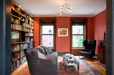 Craftsman Interior Paint Color Inspiration for red living room