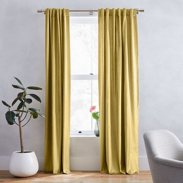 gold velvet drapery panels