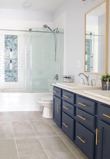 "7 Glass Tile Bathroom Ideas Worthy of Your ""Dream Home"" Pinterest Board"