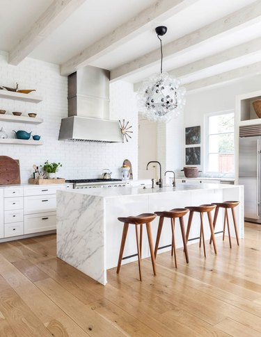 transitional kitchen ideas with futuristic accents
