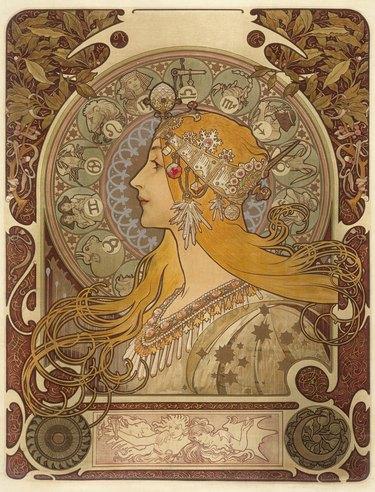 art nouveau style artwork