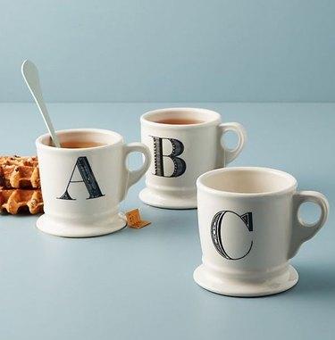 anthropologie monogram mug