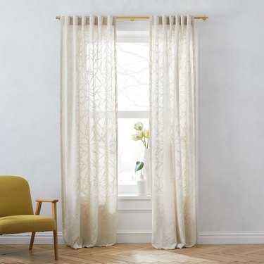 sheer curtains with glass pattern motif