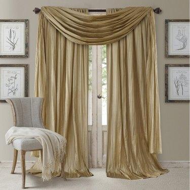 faux silk drapery panels
