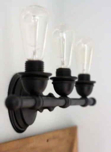 DIY industrial bathroom vanity lights
