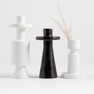Crate & Barrel x Leanne Ford black and white vases