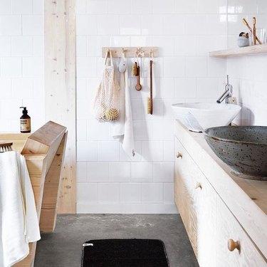 Scandinavian design bathroom