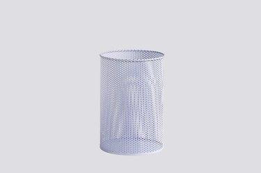 perforated pastel purple trashcan