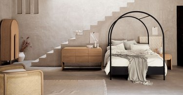 crate and barrel canopy bed