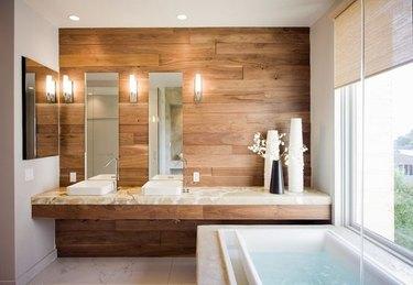 onyx countertop in bathroom