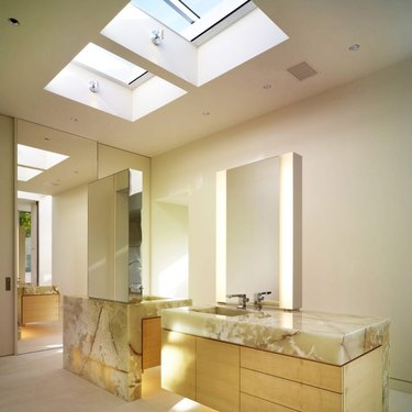 onyx countertops in bathroom