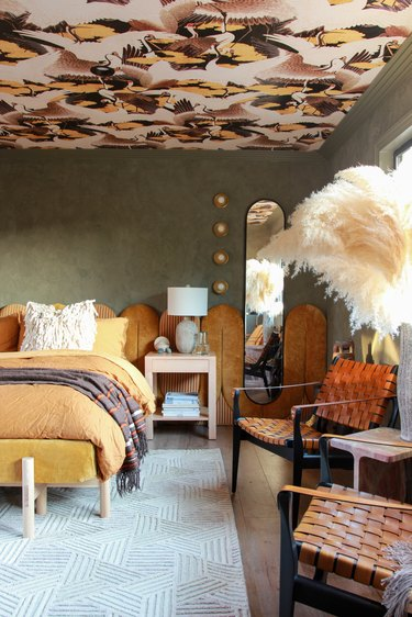 desert-inspired art deco bedroom