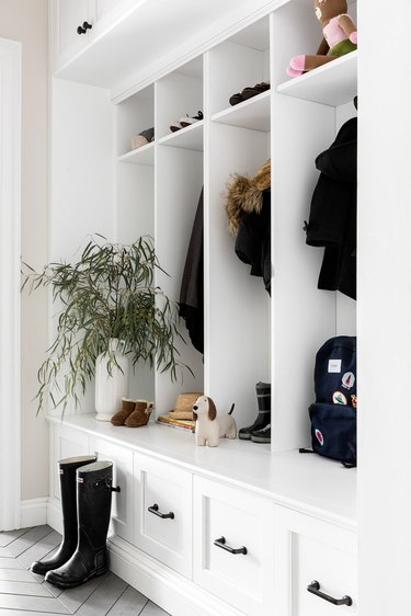storage closet in entryway