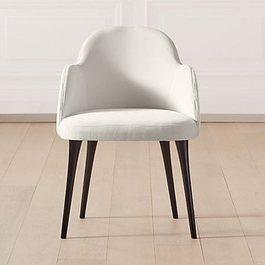 ivory art deco chair from CB2