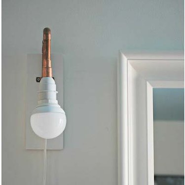 DIY copper wall sconce