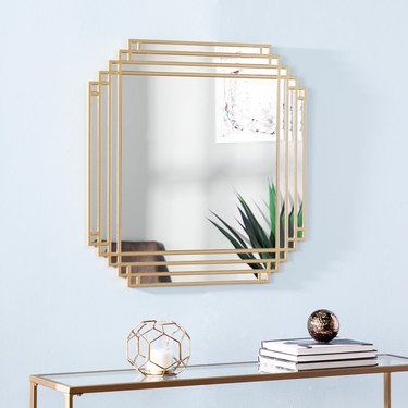 art deco mirror with gold frame