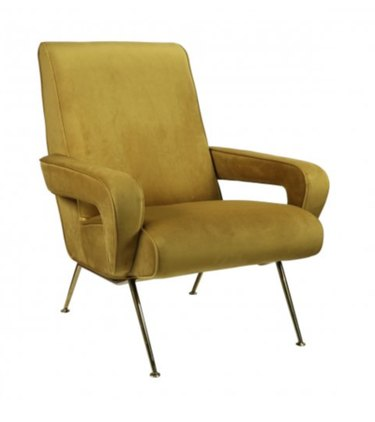 yellow art deco chair from Anecdote