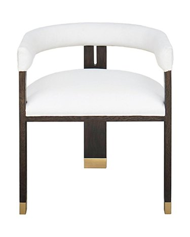 white black and gold art decor chair from McGee & Co.