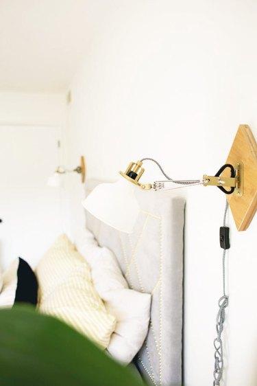 DIY wall light IKEA hack