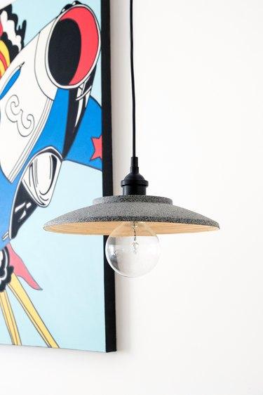 DIY bamboo bowl Ikea hack pendant light