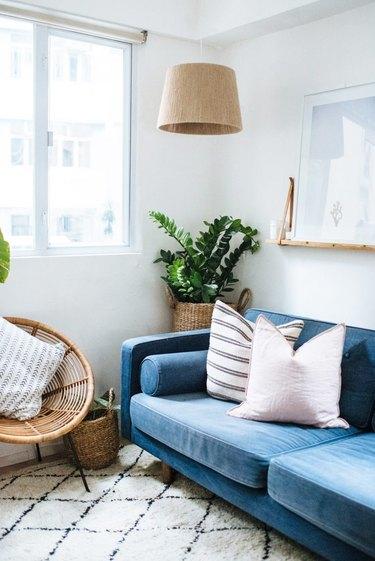 DIY twine lampshade IKEA hack