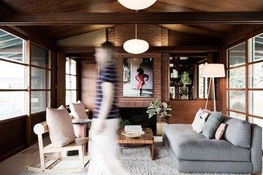 warm wooden interior midcentury modern house