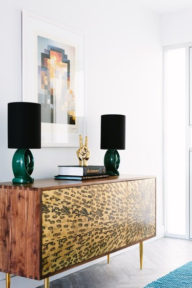 jewel-toned furniture and decor for low-key glam vibes